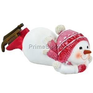 Фигура декоративная Снеговик на коньках 1