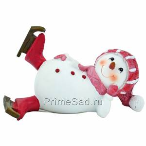 Фигура декоративная Снеговик на коньках 2
