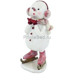 Фигура декоративная Снеговик с наушниками