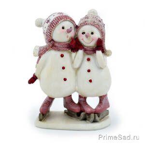 Фигура декоративная Снеговики на коньках