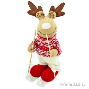 Фигура декоративная Новогодний олень мальчик