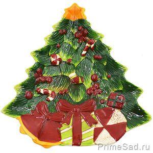 Тарелка Новогодняя елка