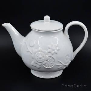 Чайник заварной керамический Цветы