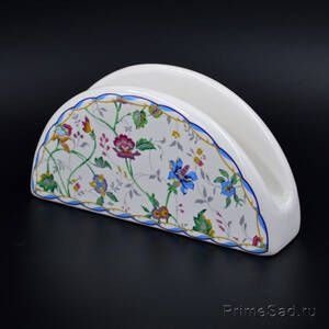 Салфетница керамическая Цветы