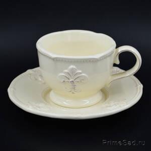 Чашка с блюдцем Лилия