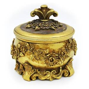 Шкатулка для украшений Золото в цветах