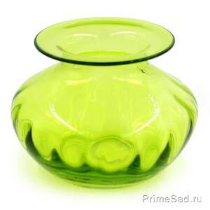 Ваза стеклянная зеленая