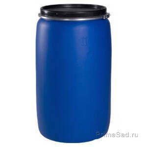 Бочка 227л синяя Полимер-Групп