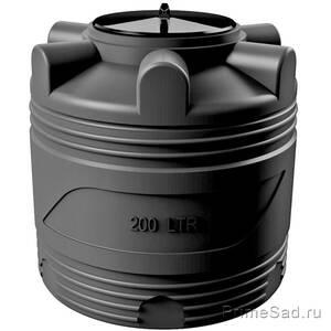Бочка V 200л черная Полимер-Групп