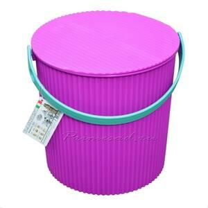 Ведро-стул BAMBINI 10л фиолетовое Изумруд