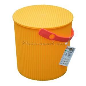 Ведро-стул BAMBINI 10л желтое Изумруд